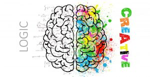 Diagram of Logic side and Creative sides of the brain